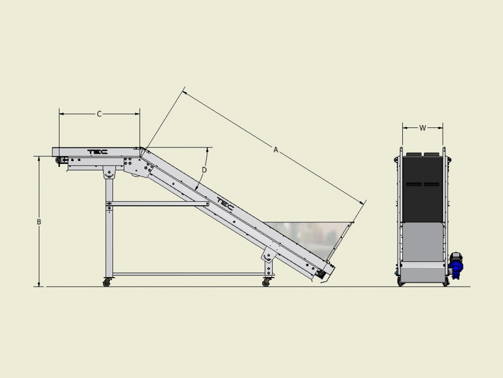 Classic Series - Noseover Conveyor Dimensions