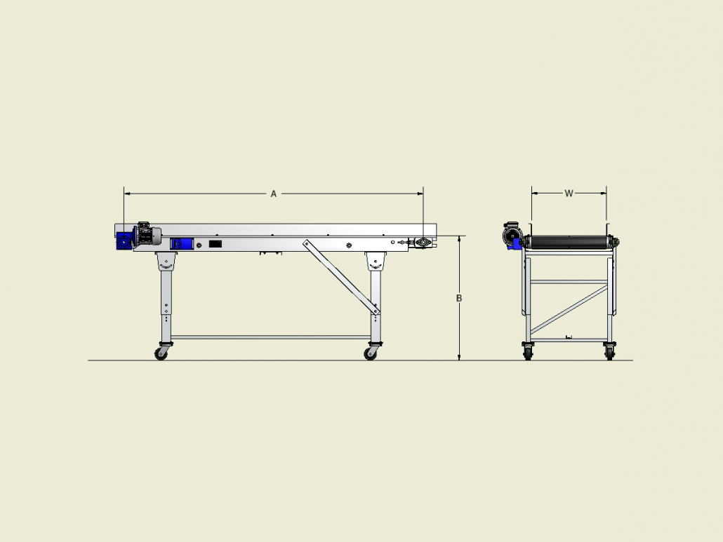 Classic Series - Horizontal Conveyor Dimensions