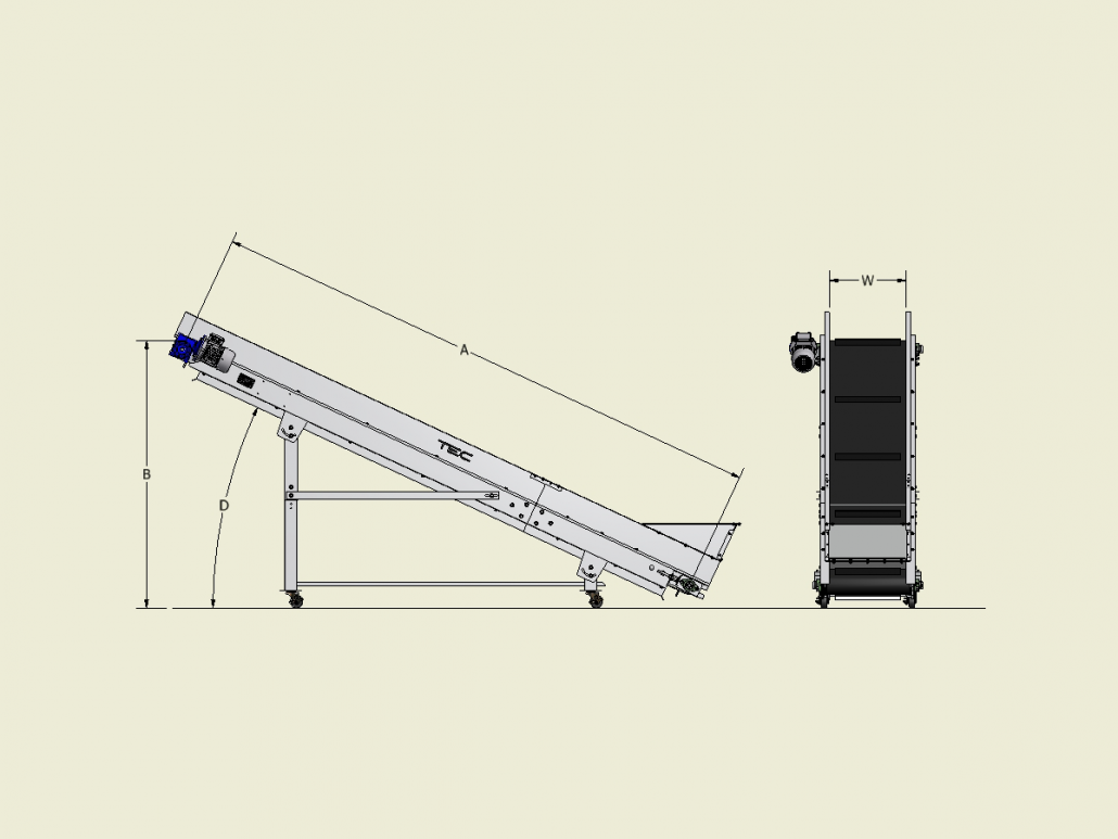 Classic Series - Incline Conveyor Dimensions