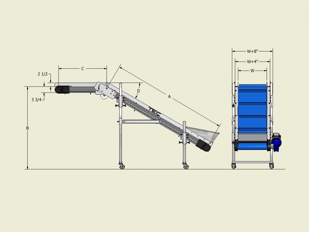 Ultraline Series - Noseover Conveyor Dimensions