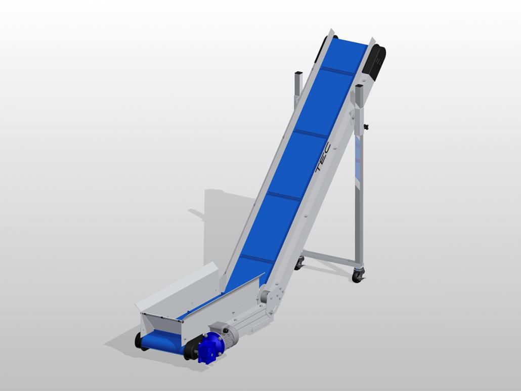 Ultraline Series - Horizontal-to-Incline Conveyor ISO View